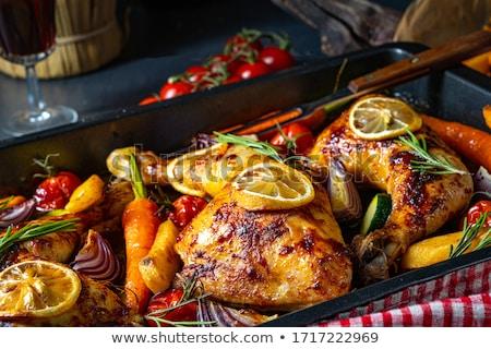 A la parrilla picante pollo bio pimientos escorpión Foto stock © Peteer