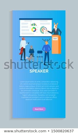 vrouw · business · presentatie · zakenvrouw - stockfoto © robuart