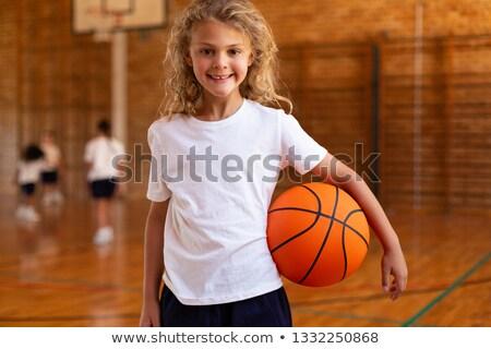 Front widoku uczennica koszykówki Zdjęcia stock © wavebreak_media