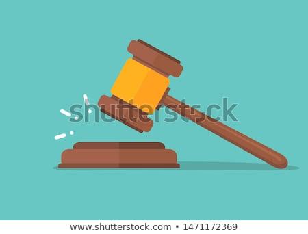 Richter · Auktion · Hammer · Symbol · Business · Design - stock foto © -talex-