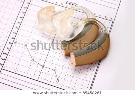 hearing medical chart showing, audiology Stock photo © vladacanon