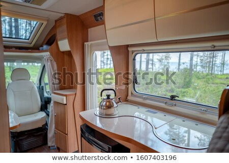 View from the window of the motorhome RV Caravan car travel Vaca Stock photo © cookelma