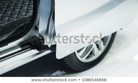 Carro porta ícone branco abstrato arte Foto stock © smoki
