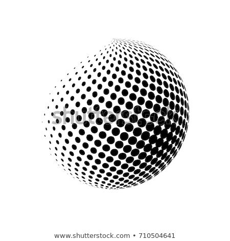 аннотация полутоновой эффект 3D сфере дизайна Сток-фото © designleo