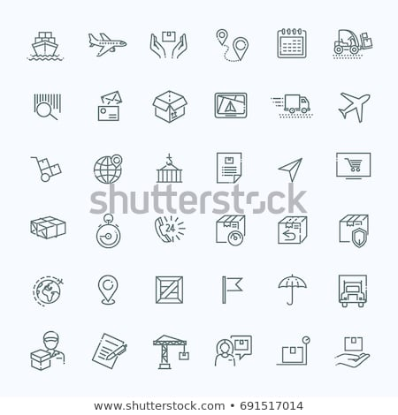 Airplane Delivery Postal Transportation Company Icon Vector Illustration Stock photo © pikepicture