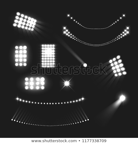 Sport Stadium With Lighting Lamps Set Vector Stock photo © pikepicture