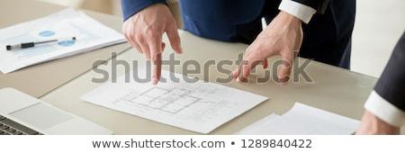 Investimento planejamento imóveis alugar bandeira informação Foto stock © robuart
