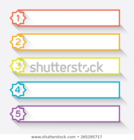 Set of 5 numbered paper style headers with star Stock photo © ShustrikS