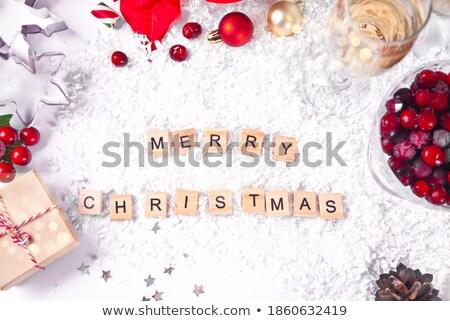 pezsgő · hó · függőleges · fotó · kettő · üveg - stock fotó © pressmaster