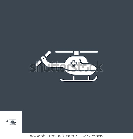 Nood helikopter vector icon geïsoleerd witte Stockfoto © smoki