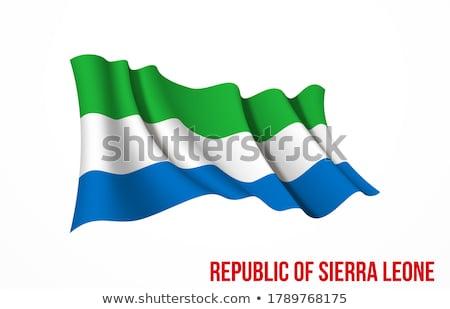 Sierra Leone flag, vector illustration on a white background Stock photo © butenkow