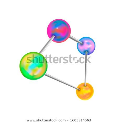 Skomplikowany struktura chemiczna atomowy biały odizolowany streszczenie Zdjęcia stock © evgeny89