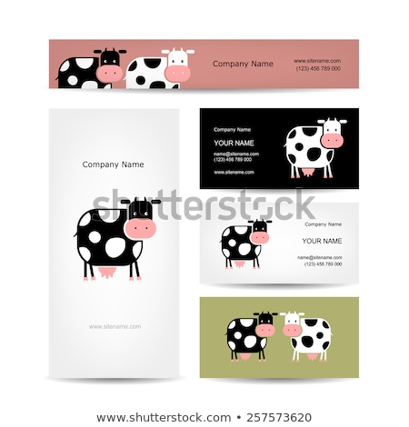 Border template design with farm animals Stock photo © bluering