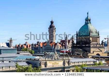 Németország városkép panorámakép kép belváros drámai Stock fotó © rudi1976
