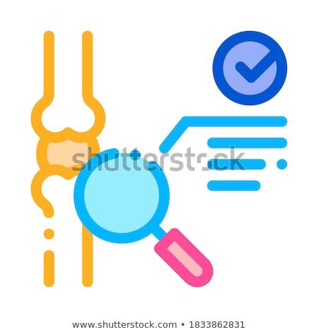 Bot gezamenlijk test icon vector schets Stockfoto © pikepicture