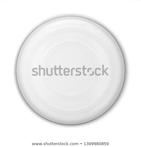 Vliegen schijf 3d illustration geïsoleerd witte Stockfoto © montego