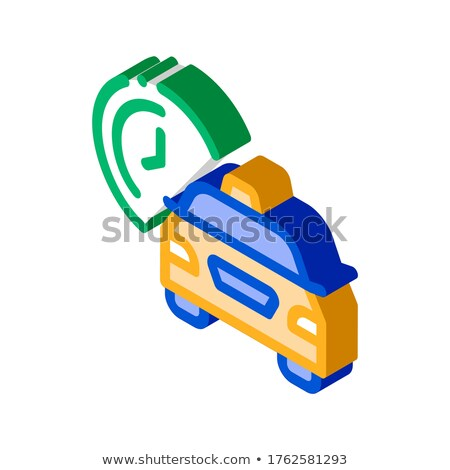 Czeka czasu online taksówką izometryczny ikona Zdjęcia stock © pikepicture