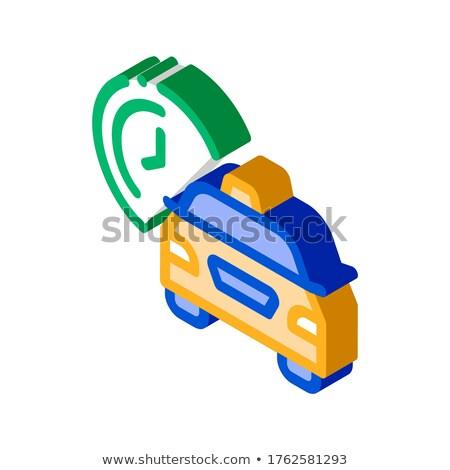 Espera tempo on-line táxi isométrica ícone Foto stock © pikepicture