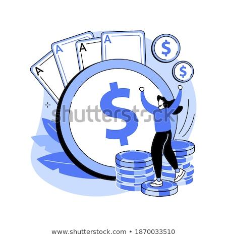 Gambling winnings vector concept metaphor. Stock photo © RAStudio