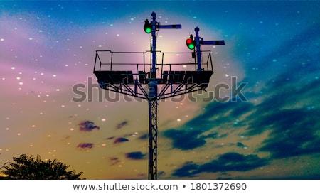 Krzyż nie podróży Jezusa chmury miłości Zdjęcia stock © morrbyte