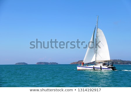 Sail boats on the horizon. Stock photo © lithian