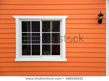 Okno ściany zamknięte żółty Zdjęcia stock © 808isgreat
