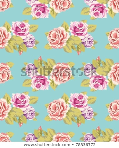seamless wallpaper pattern in shades of purple Stock photo © tottoro