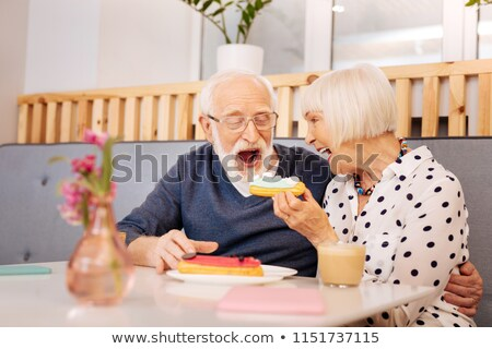 Couple eating an eclair stock photo © photography33