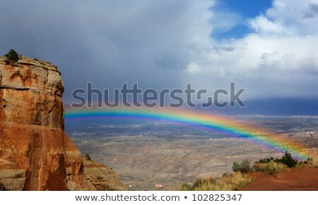 Rain over Red Rocks Stock photo © alexeys