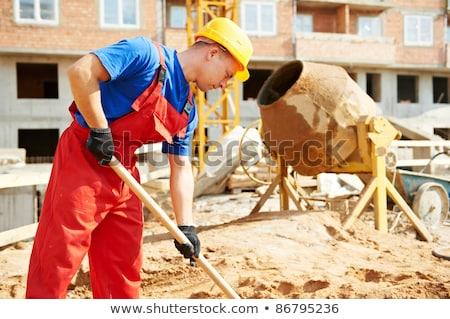 Hombre cemento construcción trabajo rock industria Foto stock © photography33