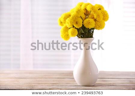 Yellow flower in vase Stock photo © alexeys