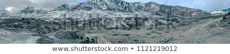 himalaya landscape stream and snowed peaks stock photo © arsgera
