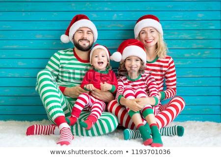 madre · bebé · Navidad · tres · sesión · próximo - foto stock © paha_l