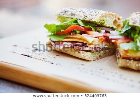 суп · сыра · ветчиной · куриные · чеснока - Сток-фото © stevemc