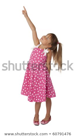 Cute girl looking upwards Stock photo © photography33
