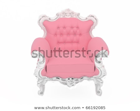 Pink doll's modern armchair isolated on white background Stock photo © Victoria_Andreas