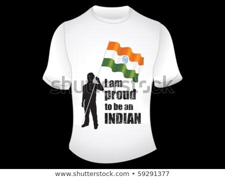 抽象的な インド 誇りに思う Tシャツ デザイン ファッション ストックフォト © pathakdesigner