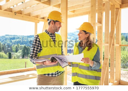 Workteam on construction site Stock photo © photography33