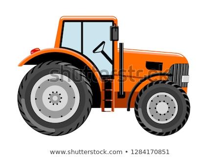 オレンジ トラクター 汚い 山 道路 自然 ストックフォト © taviphoto