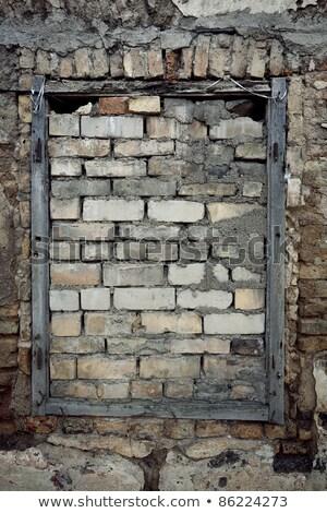 Old Wall With Immured Window Сток-фото © Taigi