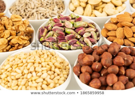 Various kinds of nuts on the market. Stock photo © frank11