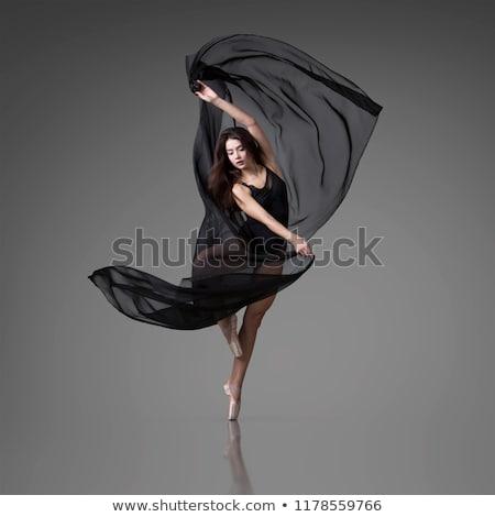 ballet dancer in black clothes Stock photo © phbcz