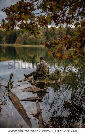Maduro cavalheiro pescaria rio água esportes Foto stock © photography33