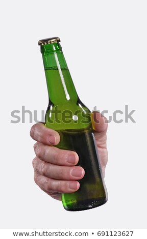 Man holding bottle of beer Stock photo © photography33