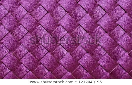 Purple leather texture closeup Stock photo © homydesign