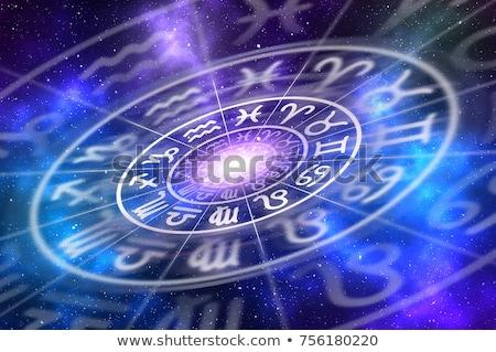 Oroscopo zodiaco illustrazione simboli grafica astrologia Foto d'archivio © samsem