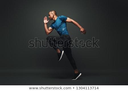 Сток-фото: спортсмен · изображение · рубашки · человека · Bat · глядя