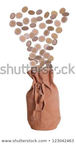 European Coins In Suede Bag Stock fotó © pterwort