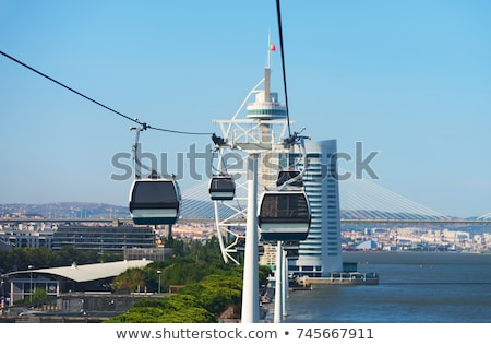 cable car in lisbon stock photo © tannjuska