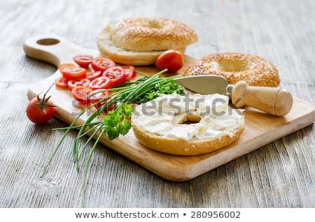 トマト クリーム チャイブ チーズ サラダ ストックフォト © M-studio